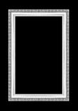 Molduras para retrato de prata Isolado no preto Fotografia de Stock