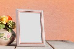 Molduras para retrato em de madeira Imagens de Stock Royalty Free