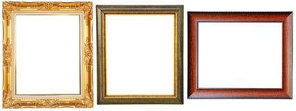 Molduras para retrato luxuosos Imagens de Stock