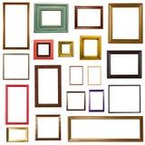 Molduras para retrato no branco Imagens de Stock Royalty Free
