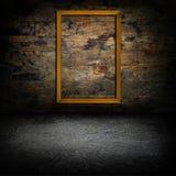 Molduras para retrato no muro de cimento Fotografia de Stock