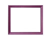 Molduras para retrato roxas no fundo branco Imagens de Stock