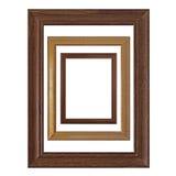Molduras para retrato vazias de madeira Imagem de Stock