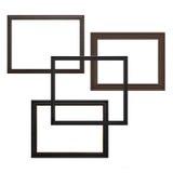 Molduras para retrato vazias de madeira Fotos de Stock
