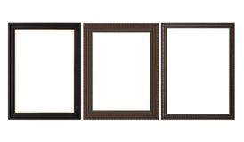 Molduras para retrato vazias de madeira Imagem de Stock Royalty Free