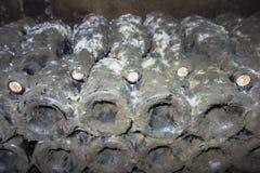 Moldy Bottles Of Fine Wine Stock Photos