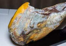 Moldy ham hamon dangerous food Stock Photos