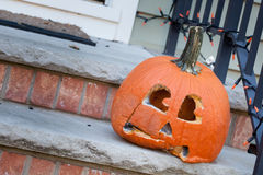 Moldy Jack-o-lantern After Halloween Stock Images