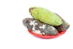 Moldy mango isolated on white Royalty Free Stock Photos