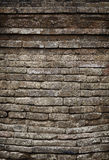 Moldy old brick temple wall Stock Image
