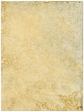 Moldy old paper isolated on a white background. Moldy discolored old paper isolated on a white background Royalty Free Stock Photos