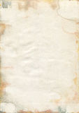 Moldy old watercolour paper texture. Damaged and Moldy old watercolour paper royalty free stock images