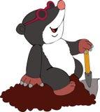 Mole. Illustration of the amusing mole woker Royalty Free Stock Image