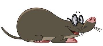 Mole. Illustration of a smiling mole wearing eyeglasses Royalty Free Stock Image