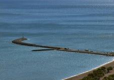 Mole at Adriatic sea Royalty Free Stock Photos