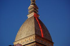 Mole Antonelliana Christmas Royalty Free Stock Photo
