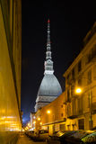 Mole Antonelliana di Torino by night Royalty Free Stock Photography