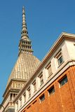 Mole Antonelliana. Antonelli`s tower, symbol of Turin, in Piedmont, Italy stock image