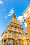 Mole Antonelliana, inTurin, Piedmont , Italy. Mole Antonelliana museum building, the symbol of Turin city in Piedmont region in Italy royalty free stock photography