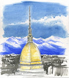 Mole Antonelliana, tower in Turin, Italy Royalty Free Stock Photography