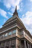 Mole Antonelliana, Turin. Turin,Italy,Europe - April 12, 2014 : View from below of the Mole Antonelliana Royalty Free Stock Images