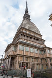 Mole Antonelliana in Turin, Italy. Mole Antonelliana is one of the landmarks of Turin in Piedmont, Italy. It hosts the national museum of cinema stock photo