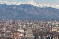 Mole Antonelliana View Alps stock image