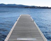 Mole auf dem Meer Stockbild