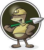 Mole Character. Vector illustration of a mole character in miner outfit Stock Photo