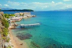 Mole in corfu old port. In corfu town greece Royalty Free Stock Photos