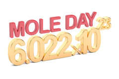Mole Day concept Stock Photography