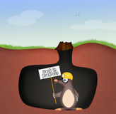 Mole in the den. Illustration of mole in the den Stock Photography