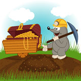 Mole dug treasure Stock Images