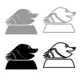 Mole icon for garden craftset grey black color  Illustration. Mole icon for garden craftset grey black color vector Illustration Stock Images