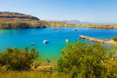 Mole in Lindos Royalty Free Stock Photo