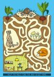 Mole Maze Game Lizenzfreie Stockbilder