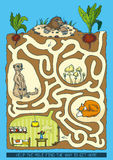 Mole Maze Game Royalty Free Stock Images