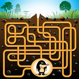 Mole and molehill maze game Royalty Free Stock Images