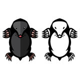 Mole pest animal vector illustration Royalty Free Stock Images