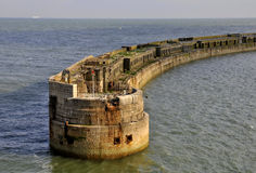 The mole - Port of Dover Royalty Free Stock Photography