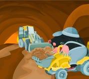 Mole tunnel Stock Image