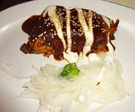 Mole-und Käse-Hühnergefüllte maismehltasche stockfotos