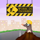 Mole for work in progress Royalty Free Stock Photos