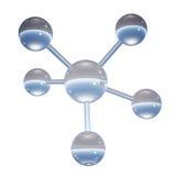 Molecola astratta - illustrazione 3D Fotografia Stock