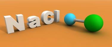 Molecola del cloruro di sodio illustrazione di stock