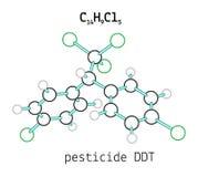 Molecola del DDT dell'antiparassitario C14H9Cl5 illustrazione di stock