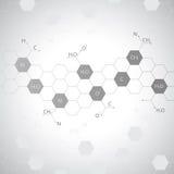 Molecola del DNA su fondo grigio illustrazione vettoriale