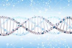 Molecola del DNA sul blu Immagine Stock Libera da Diritti