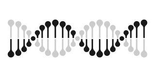 Molecola del gene del DNA della genetica del cromosoma dell'icona di vettore del DNA illustrazione di stock