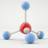 Molecola del metano fotografia stock libera da diritti